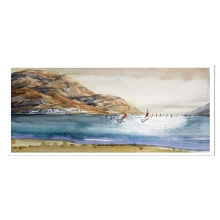 Designart 'Mountains in Sea' Seascape Metal Wall Art