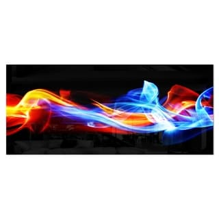 Designart 'Fire and Ice' Digital Art Abstract Metal Wall Art