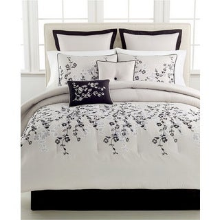Whisper Embroidered Floral 8-piece Comforter Set
