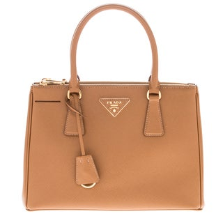 Prada Galleria Camel Saffiano Leather Bag