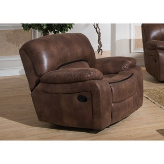 Leighton Brown Transitional Glider Reclining Chair