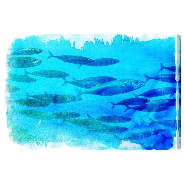 Canyon Gallery 'Blues Band of Fish' Canvas Art