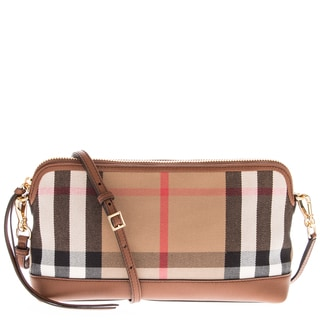 Burberry House Check Derby Leather Small Abingdon Clutch