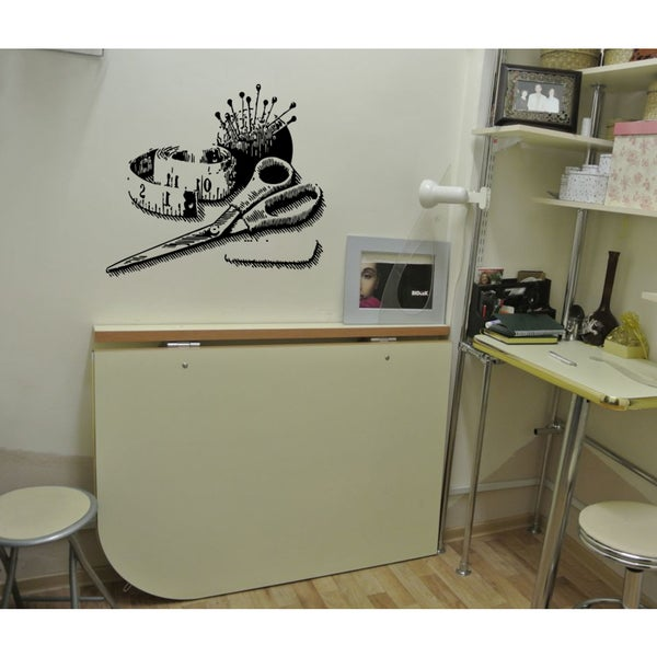 Scissors thread needle Wall Art Sticker Decal