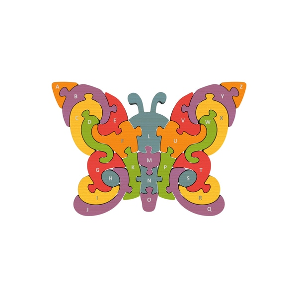 BeginAgain Toys Wood Butterfly A to Z Puzzle 18742142