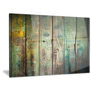 Designart 'Old Wood Pattern -Contemporary Metal Wall Art