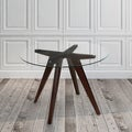 Wood and Glass 41.3-inch Round Dining Table