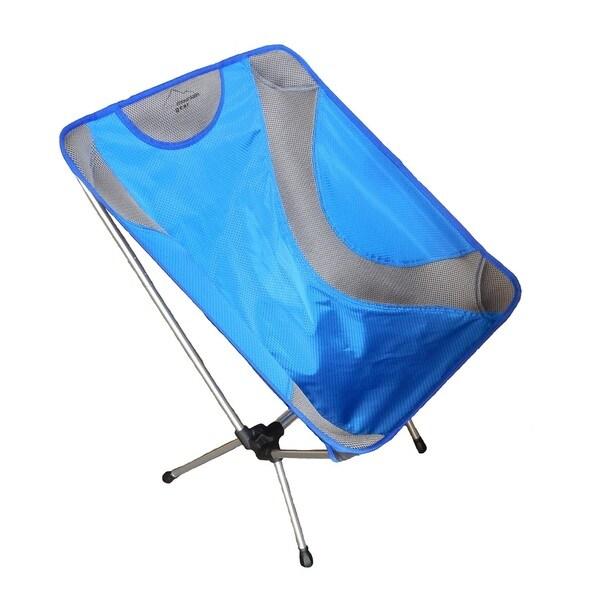 Sportsman Supply Alpine Mountain Gear Blue Mesh and Aluminum Ultra-light Chair