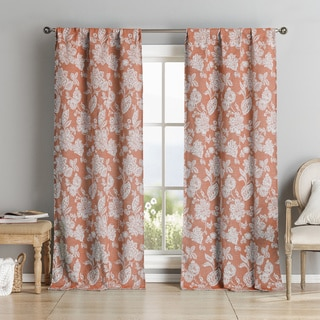 Carren Chenille Pole-top Curtain Panel Pair