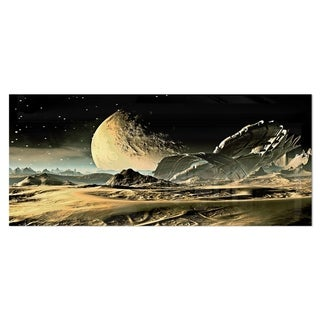 Designart 'Crashed Spaceship' Contemporary Metal Wall Art