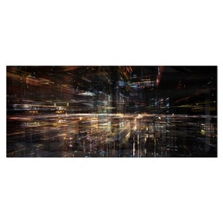Designart 'Glow of Technology' Contemporary Metal Wall Art