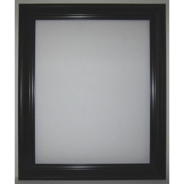 AFF Black 31-inch x 37-inch Beveled Mirror