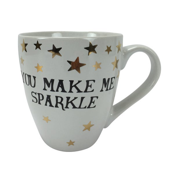 White 'You Make Me Sparkle' 18-ounce Stoneware Mug