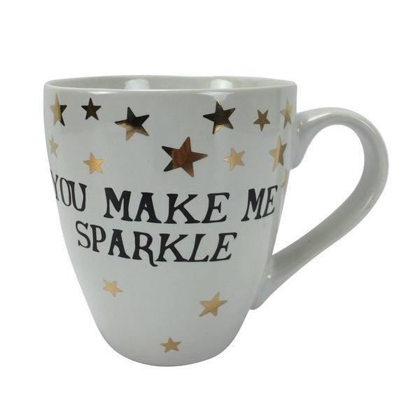 White 'You Make Me Sparkle' 18-ounce Stoneware Mug