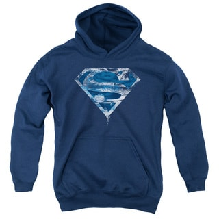 Superman/Water Shield Youth Pull-Over Hoodie in Navy