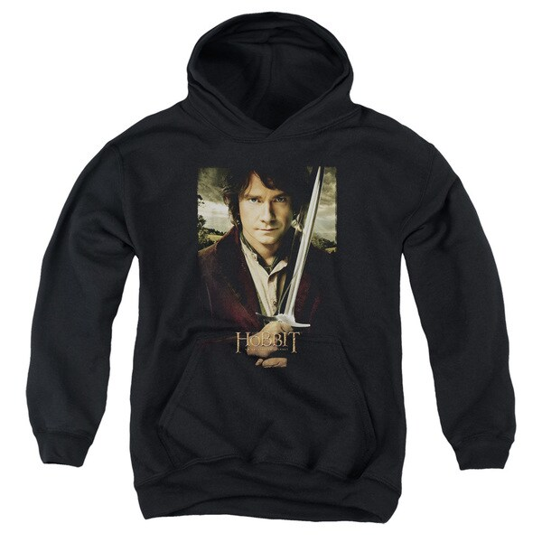 The Hobbit/Baggins Poster Youth Pull-Over Hoodie in Black