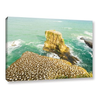 Andrew Lever's 'Birds Cover Rocks' Gallery Wrapped Canvas