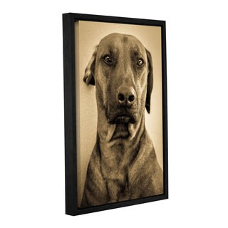 Andrew Lever's 'Deep Staring Doggy' Gallery Wrapped Floater-framed Canvas