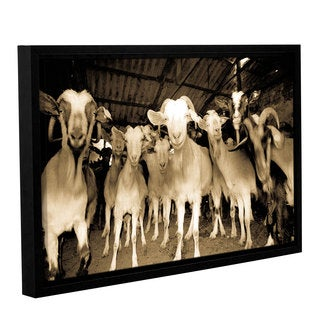 Andrew Lever's 'Goats Strike A Pose' Gallery Wrapped Floater-framed Canvas