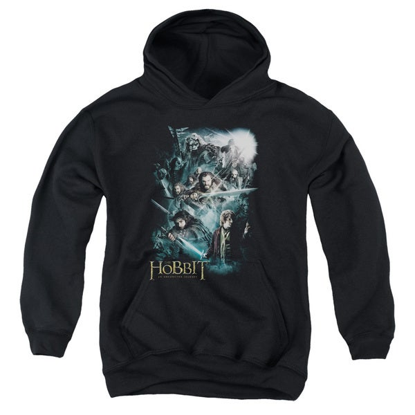 The Hobbit/Epic Adventure Youth Pull-Over Hoodie in Black