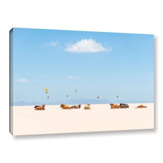Andrew Lever's 'Cows and Kites' Gallery Wrapped Canvas