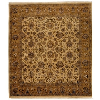 Agra Ivory/ Gold New Zealand Wool Rug (9' x 10')