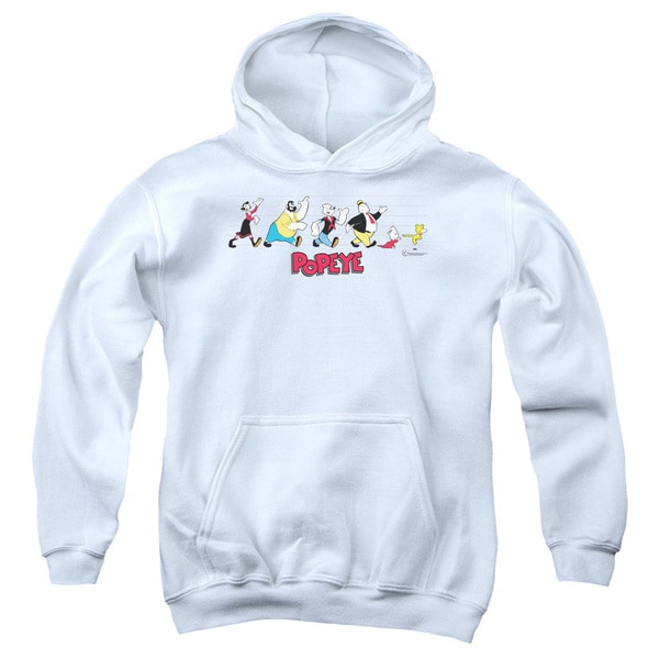 Popeye/The Usual Suspects Youth Pull-Over Hoodie in White