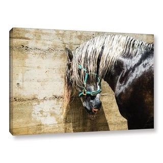 Andrew Lever's 'Wet Horse' Gallery Wrapped Canvas