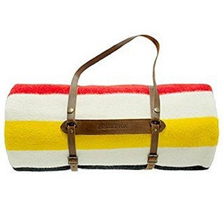 Pendleton Glacier Twin Blanket With Leather Carrier