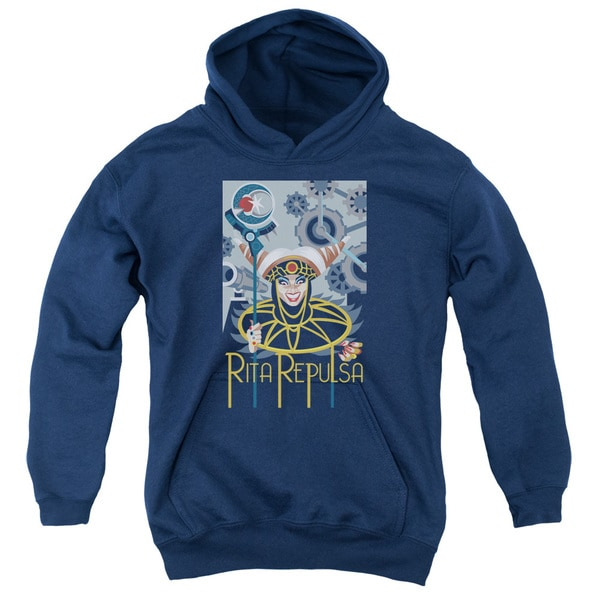 Power Rangers/Rita Deco Youth Pull-Over Hoodie in Navy