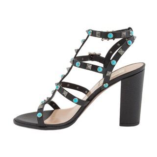 Valentino Rockstud Rolling Leather High Heel Sandal