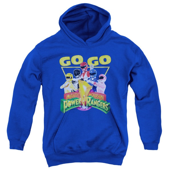 Power Rangers/Go Go Youth Pull-Over Hoodie in Royal