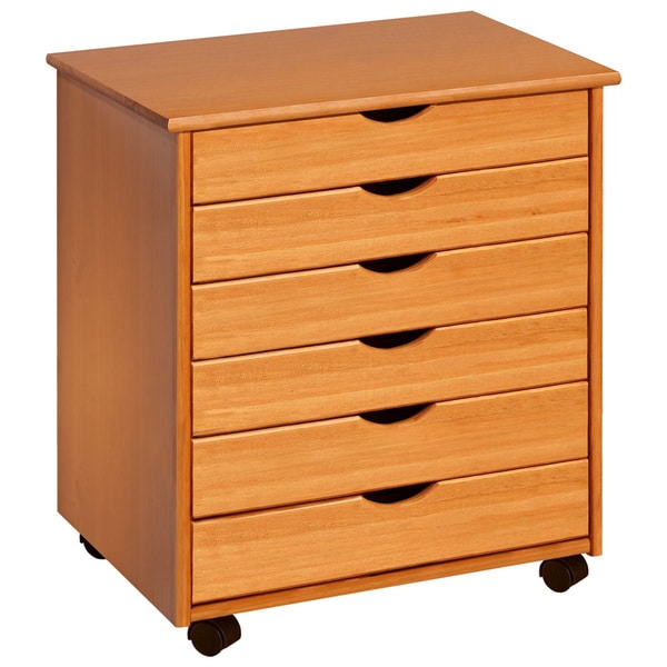 Adeptus 6 drawer rolling craft and hobby storage cart for Rolling craft table with storage