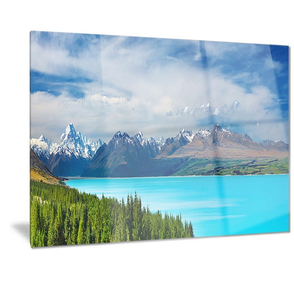 Designart 'Mount Cook New Zealand Landscape' Photo Metal Wall Art