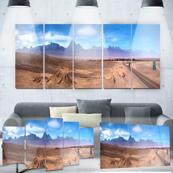 Designart 'San Pedro de Atacama Chile Panorama' Cityscape Metal Wall Art