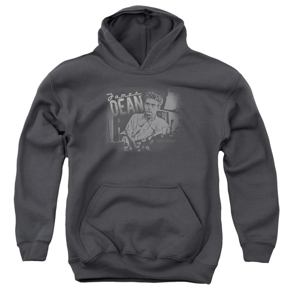 Dean/Worn Out Youth Pull-Over Hoodie in Charcoal