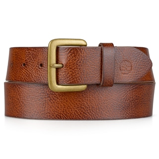 Timberland Men's Genuine Leather Classic Textured Belt