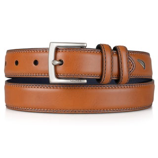 Nautica Boy's Handcrafted Faux Leather Belt