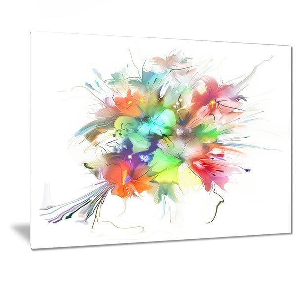 Designart 'Summer Flowers in Different Colors' Floral Digital Art Metal Wall Art