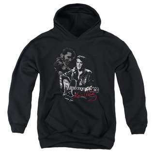 Elvis/Show Stopper Youth Pull-Over Hoodie in Black