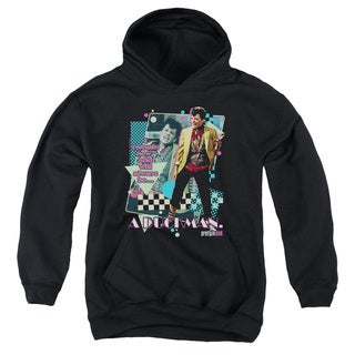 Pretty in Pik/A Duckman Youth Pull-Over Hoodie in Black
