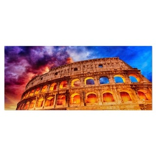 Designart 'Colosseum Rome Italy' Monumental Photo Metal Wall Art