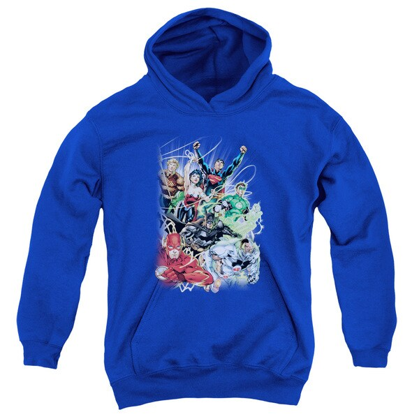 JLA/Justice League #1 Youth Pull-Over Hoodie in Royal