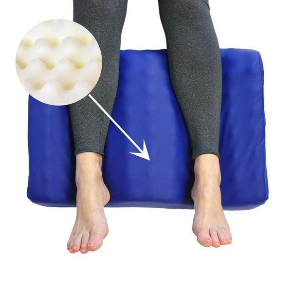 Leg Elevation Support Pillow With Antimicrobial Cover
