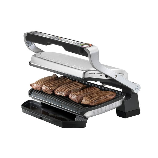T-fal GC722D53 OptiGrill XL Stainless Steel Indoor Electric Grill with Removable/Dishwasher Safe Plates