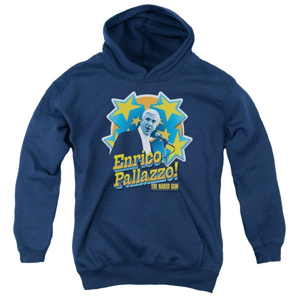 Naked Gun/Its Enrico Pallazzo Youth Pull-Over Hoodie in Navy