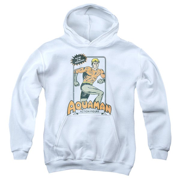 DC/Am Action Figure Youth Pull-Over Hoodie in White 18748216