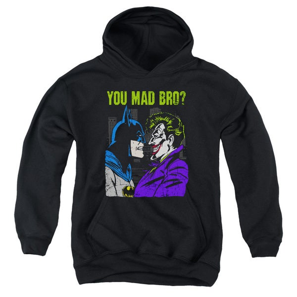 DC/Mad Bro Youth Pull-Over Hoodie in Black