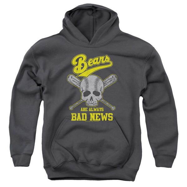 Bad News Bears/Always Bad News Youth Pull-Over Hoodie in Charcoal