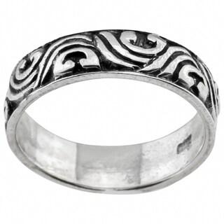 Haven Park Sterling Silver Wave Design Ring